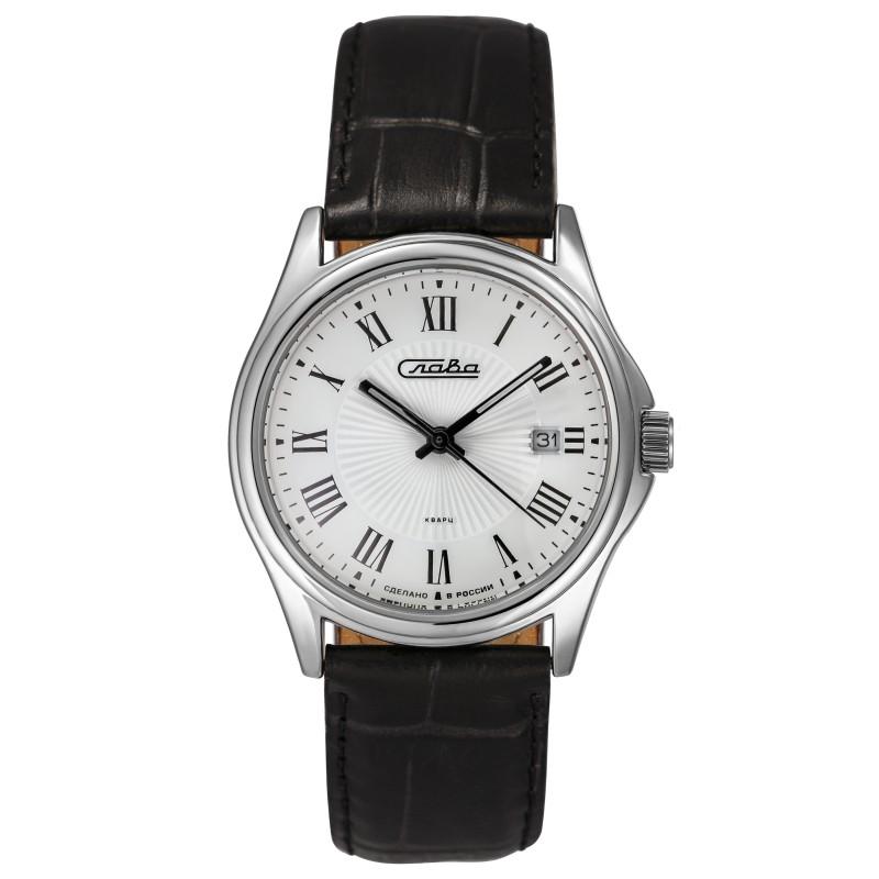 """1251380/2115-300 российские унисекс кварцевые наручные часы Слава """"Традиция""""  1251380/2115-300"""