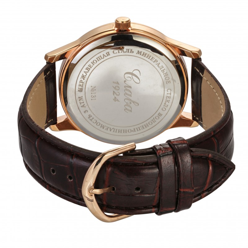 """1313461/2115-300 российские кварцевые наручные часы Слава """"Традиция"""" для мужчин  1313461/2115-300"""