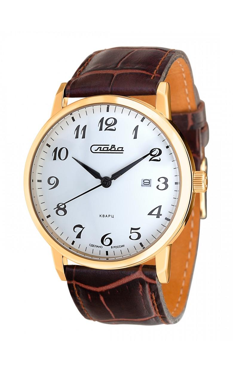 """1399744/2115-300 российские кварцевые наручные часы Слава """"Традиция"""" для мужчин  1399744/2115-300"""
