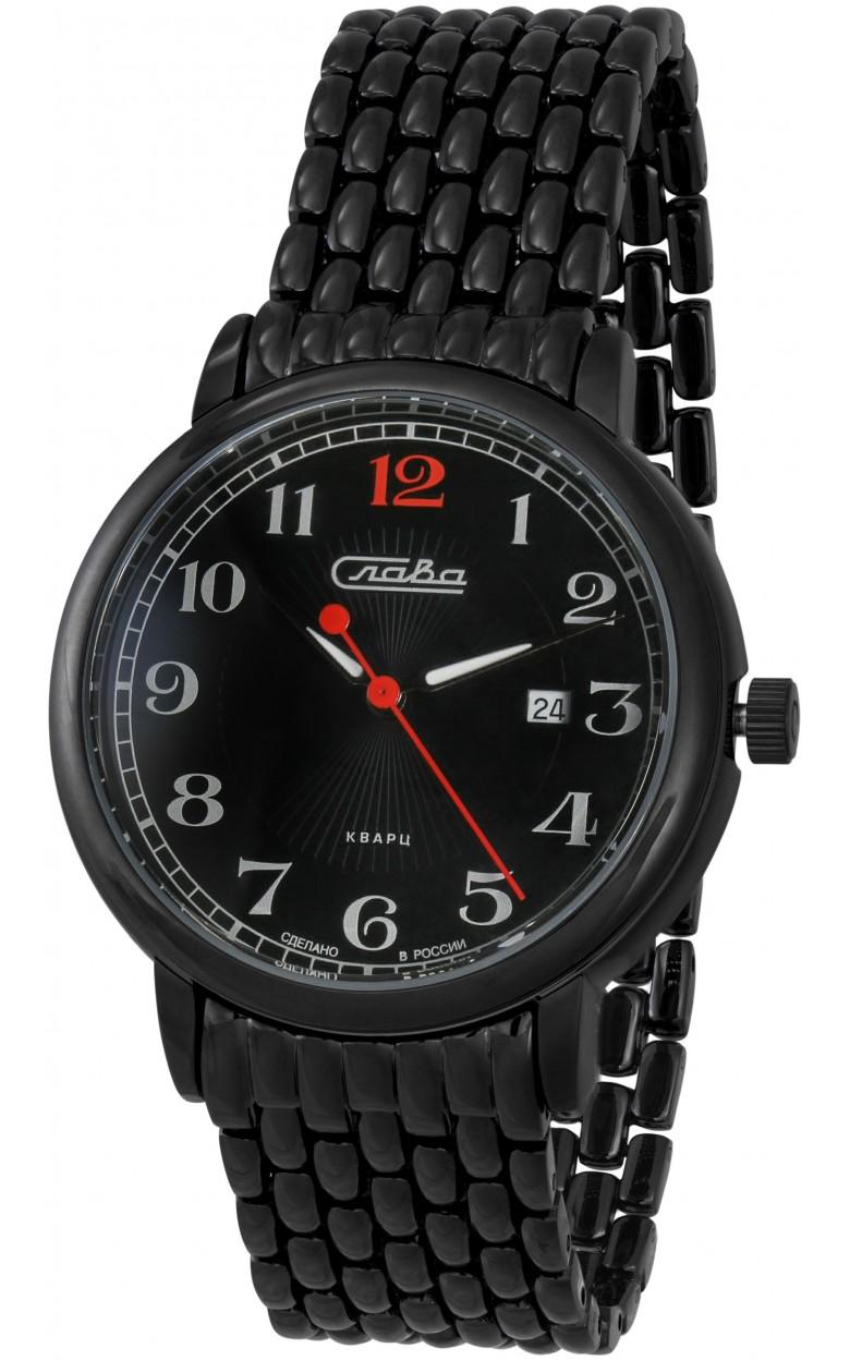 """1414712/2115-100 российские мужские кварцевые наручные часы Слава """"Традиция""""  1414712/2115-100"""