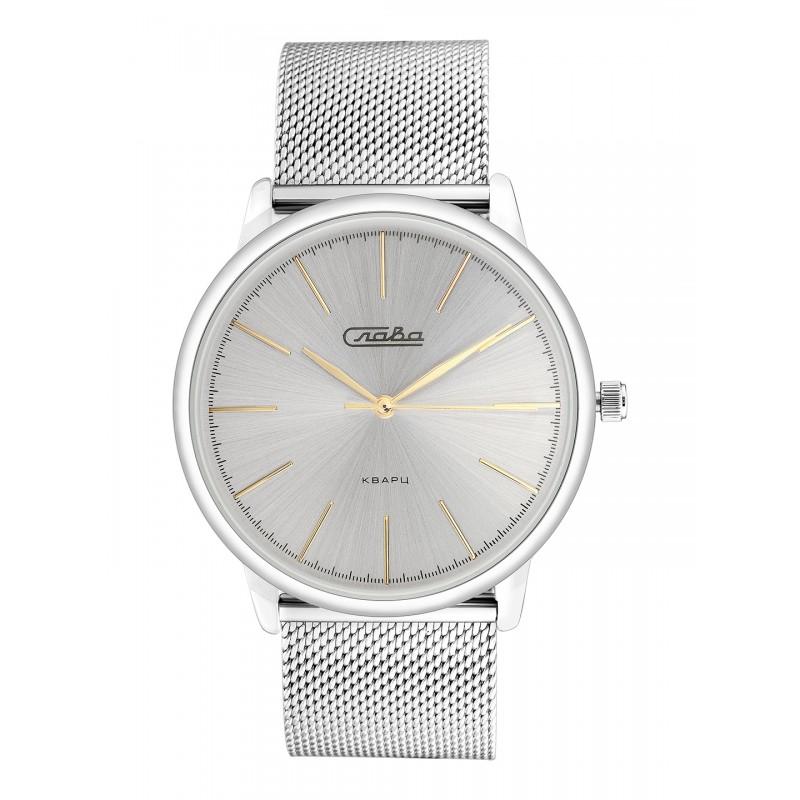 "1721979/2035-100  кварцевые часы Слава ""Традиция"" логотип Слава  1721979/2035-100"