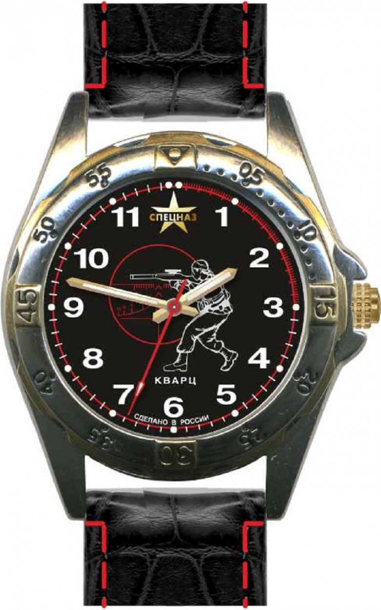 С2011281-2035-04 российские мужские кварцевые наручные часы Спецназ