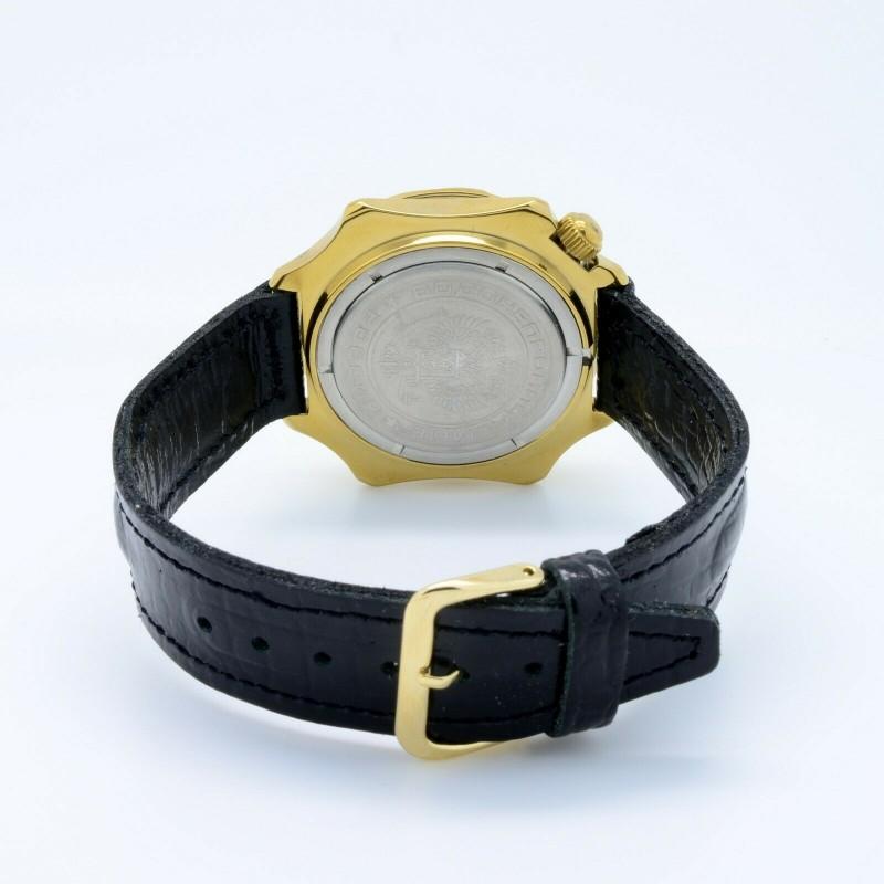 """539771/2414 российские механические наручные часы Восток """"Командирские"""" для мужчин логотип РВиА  539771/2414"""