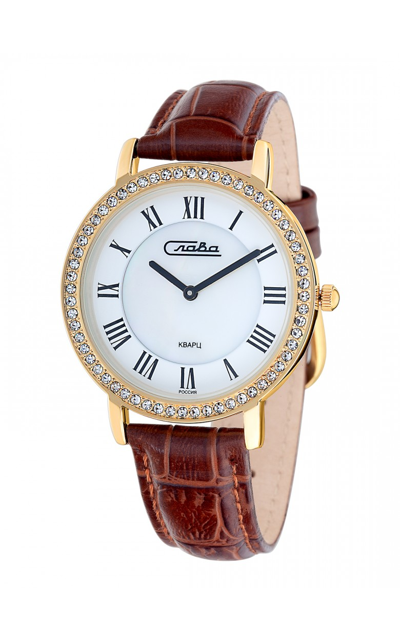 6233485/2025 российские женские кварцевые наручные часы Слава 6233485/2025