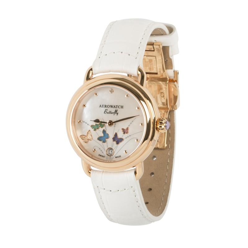 "44960 RO05  кварцевые часы Aerowatch ""1942 butterfly"" с сапфировым стеклом 44960 RO05"
