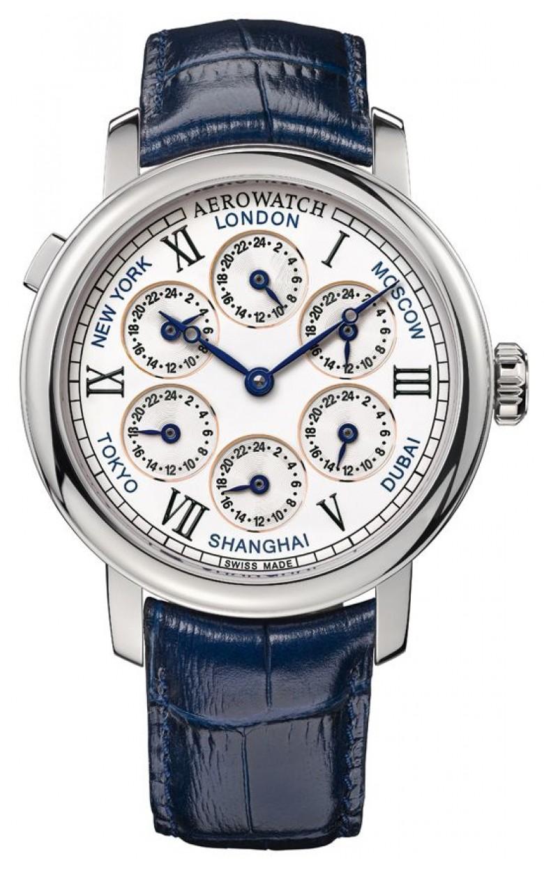 """51974 AA01  механические наручные часы Aerowatch """"Renaissance 7 Time Zones"""" с сапфировым стеклом 51974 AA01"""