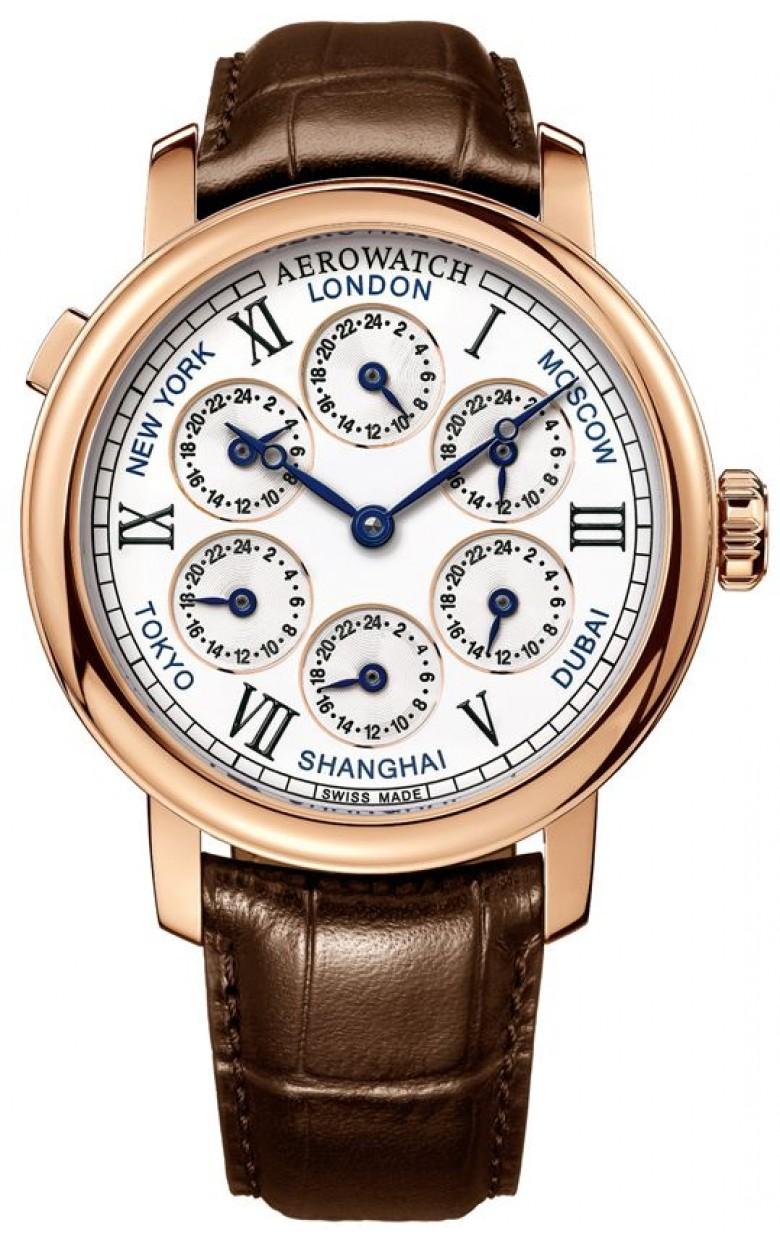 """51974 R101  механические часы Aerowatch """"Renaissance 7 Time Zones"""" с сапфировым стеклом 51974 R101"""