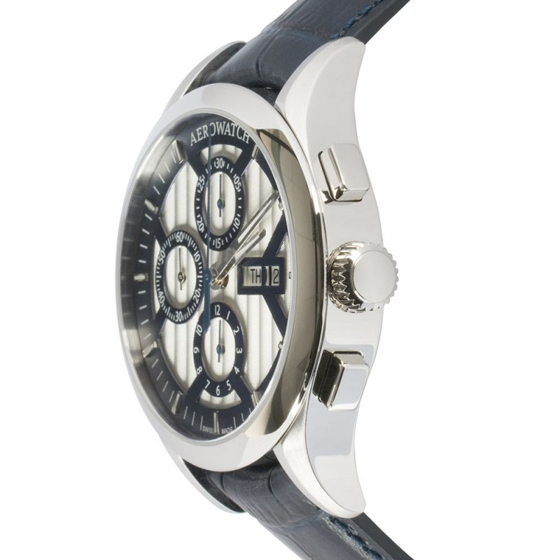 """61968 AA04  механические с автоподзаводом наручные часы Aerowatch """"Les Grandes Classiques A42 Chr Pilot"""" с сапфировым стеклом 61968 AA04"""