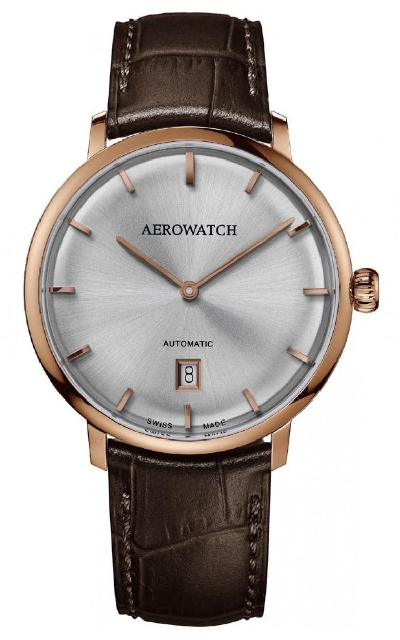 """67975 RO01  механические с автоподзаводом наручные часы Aerowatch """"Heritage Slim Automatic"""" с сапфировым стеклом 67975 RO01"""