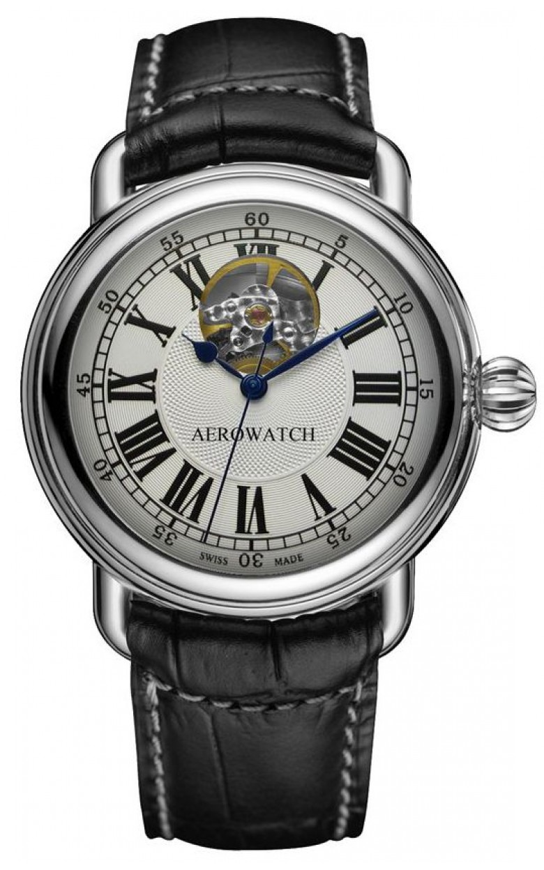 """68900 AA02 швейцарские наручные часы Aerowatch """"1942 A 40 Open Balance""""  68900 AA02"""