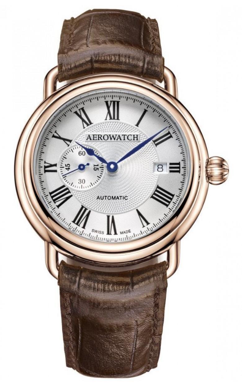 """76983 RO01  механические с автоподзаводом наручные часы Aerowatch """"1942"""" с сапфировым стеклом 76983 RO01"""