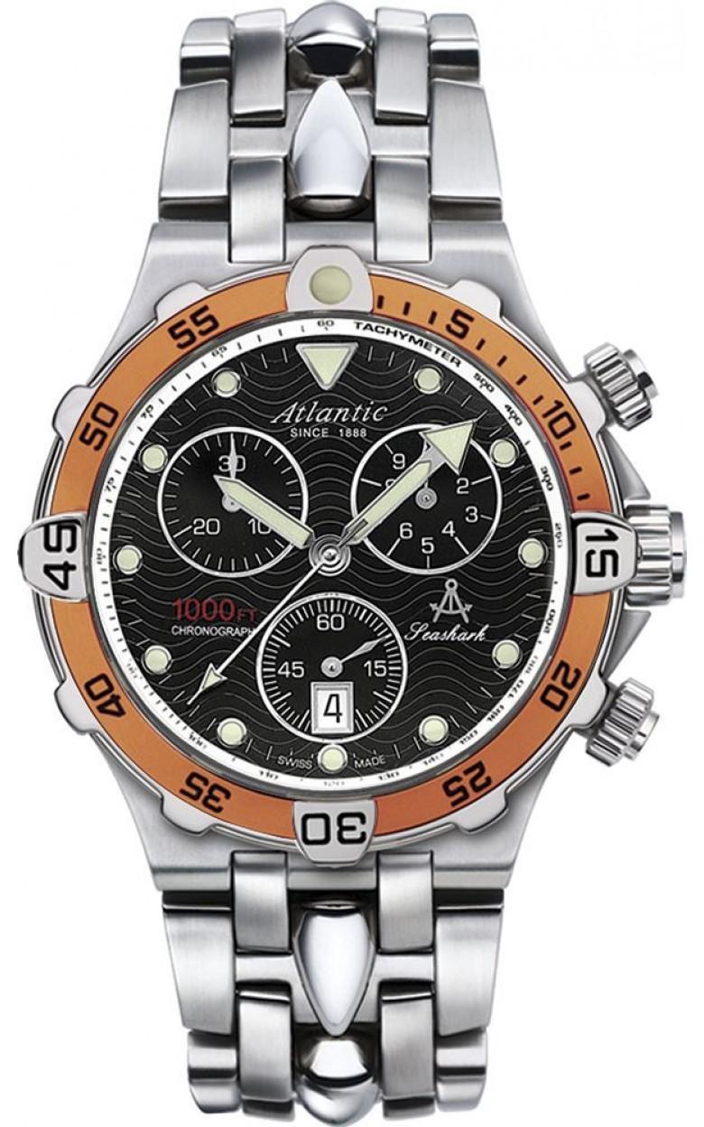 """88487.41.61 швейцарские водонепроницаемые мужские кварцевые наручные часы Atlantic """"Searock""""  88487.41.61"""