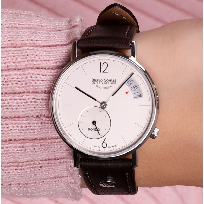 """17-13192-261  кварцевые наручные часы Bruno Sohnle """"Rondo"""" с сапфировым стеклом 17-13192-261"""