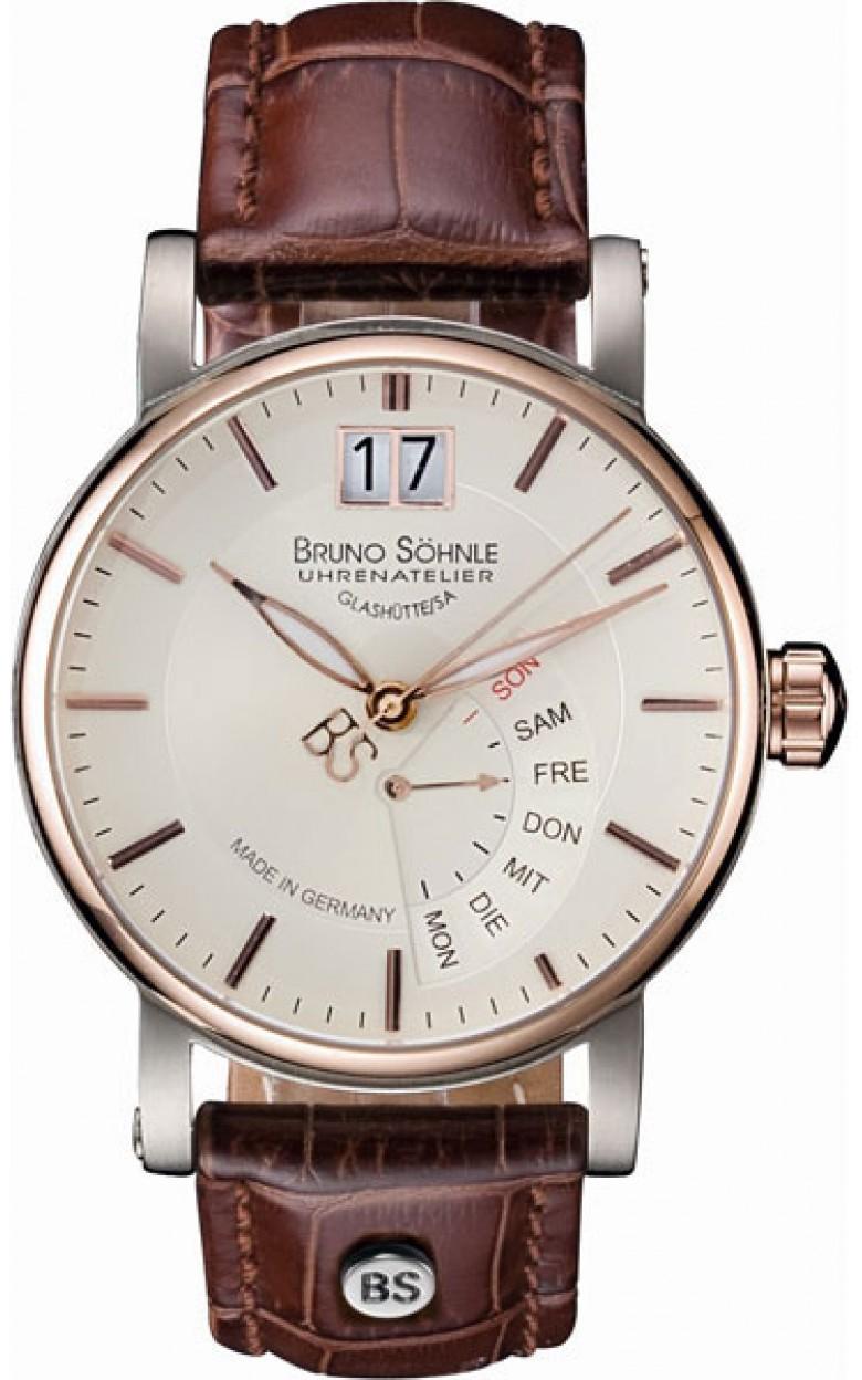 """17-63073-245  кварцевые наручные часы Bruno Sohnle """"Pesaro"""" с сапфировым стеклом 17-63073-245"""