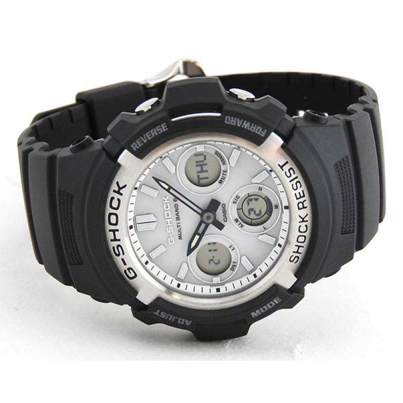 """AWG-M100S-7A  кварцевые наручные часы Casio """"G-SHOCK""""  AWG-M100S-7A"""
