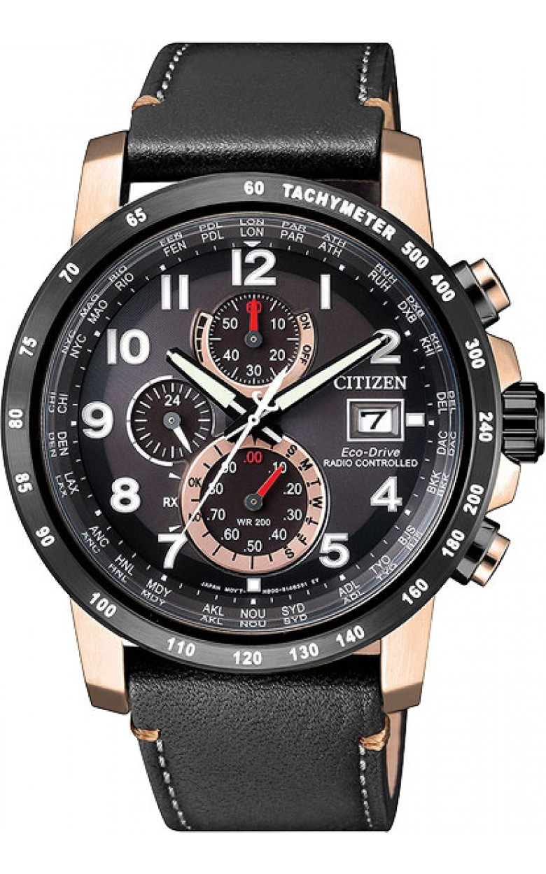 AT8126-02E японские водонепроницаемые кварцевые наручные часы Citizen