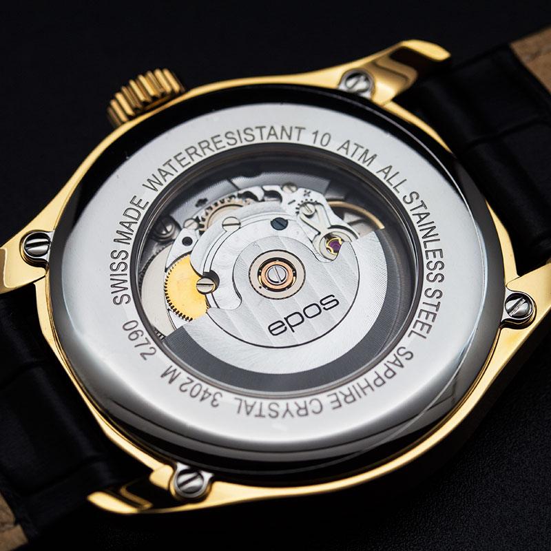 """3402.142.22.34.25 швейцарские мужские механические часы Epos """"Passion""""  3402.142.22.34.25"""