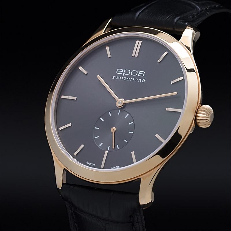 """3408.208.24.14.15 швейцарские механические наручные часы Epos """"Originale"""" для мужчин  3408.208.24.14.15"""