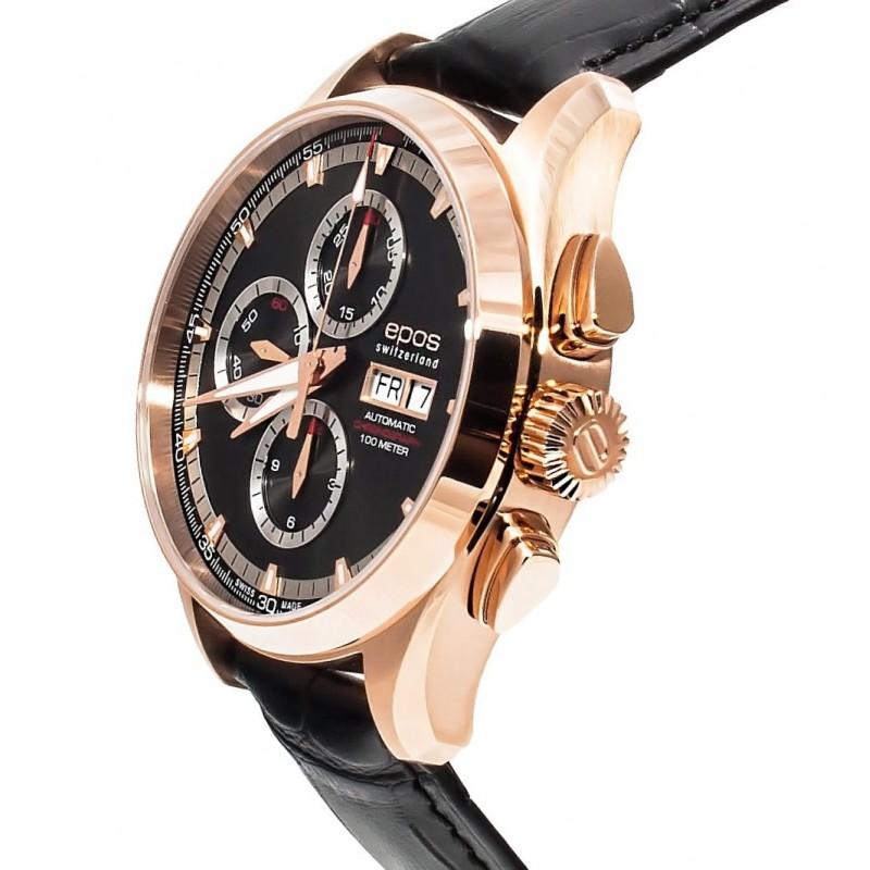 """3433.228.24.14.25 швейцарские механический хронограф с автоподзаводом наручные часы Epos """"Sportive"""" для мужчин  3433.228.24.14.25"""