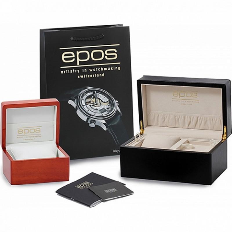 3390.152.20.34.30 швейцарские наручные часы Epos с сапфировым стеклом 3390.152.20.34.30