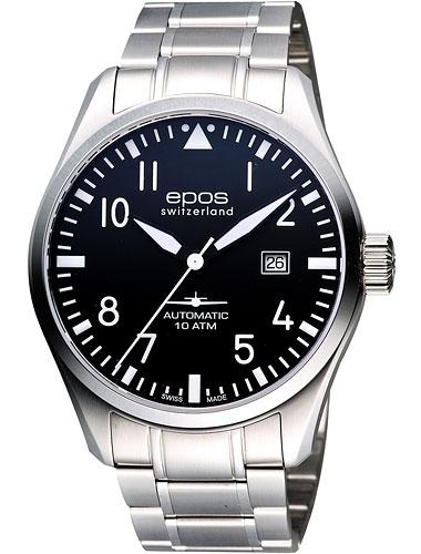 """3401.132.20.35.30 швейцарские мужские механические наручные часы Epos """"Passion""""  3401.132.20.35.30"""