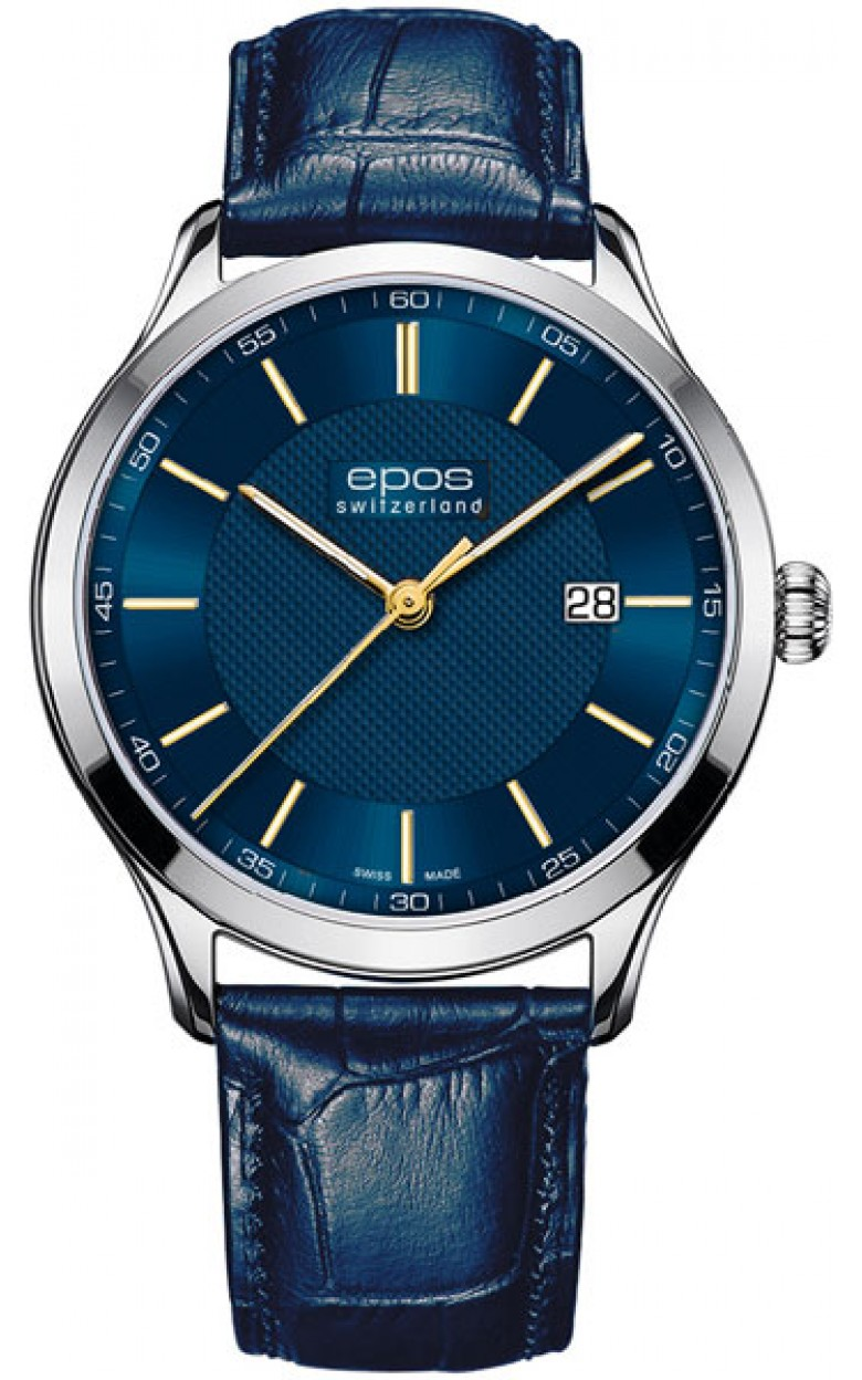 7000.701.20.96.26 швейцарские кварцевые наручные часы Epos для мужчин  7000.701.20.96.26