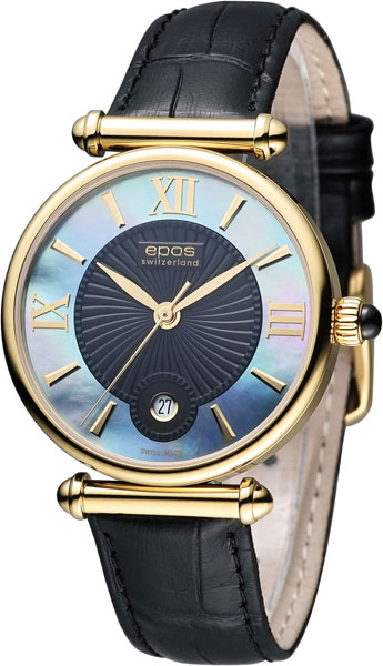 """8000.700.22.65.15  кварцевые наручные часы Epos """"Quartz"""" с сапфировым стеклом 8000.700.22.65.15"""