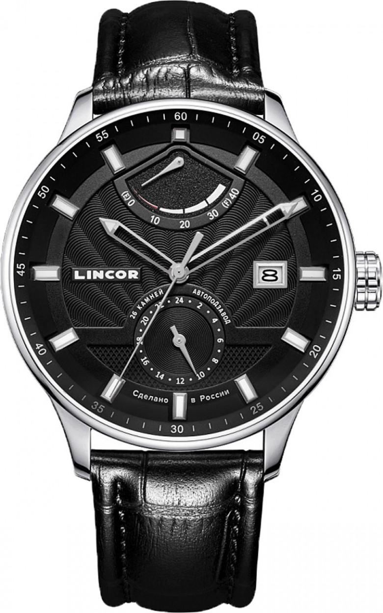 1230S0L1  механические наручные часы Lincor с сапфировым стеклом 1230S0L1