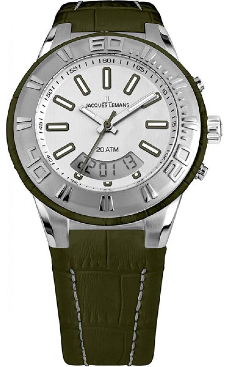 1-1772E  водонепроницаемые мужские кварцевые часы Jacques Lemans  1-1772E