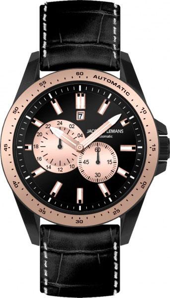 1-1775F  мужские механические наручные часы Jacques Lemans  1-1775F