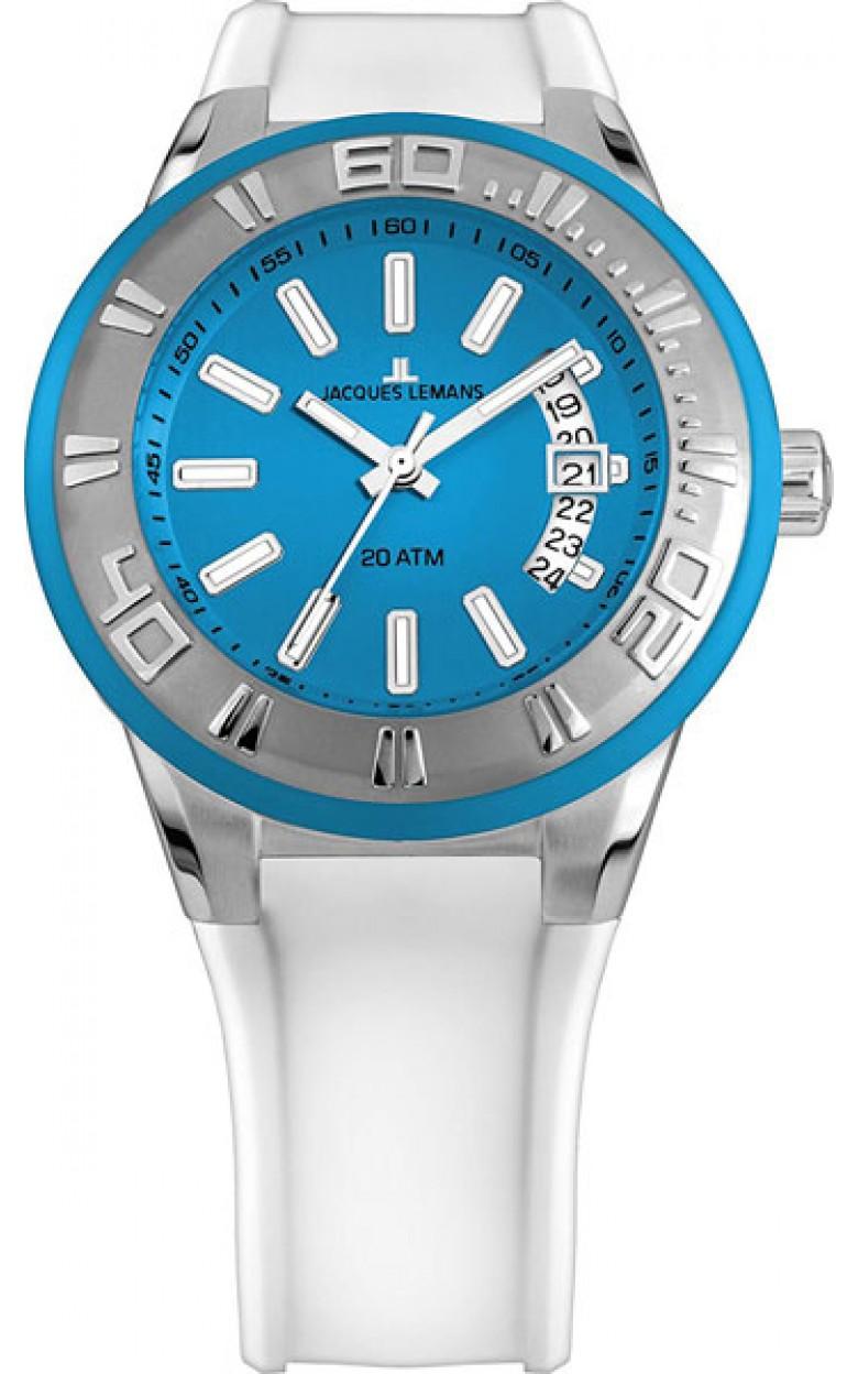 1-1784F  водонепроницаемые кварцевые наручные часы Jacques Lemans для мужчин  1-1784F
