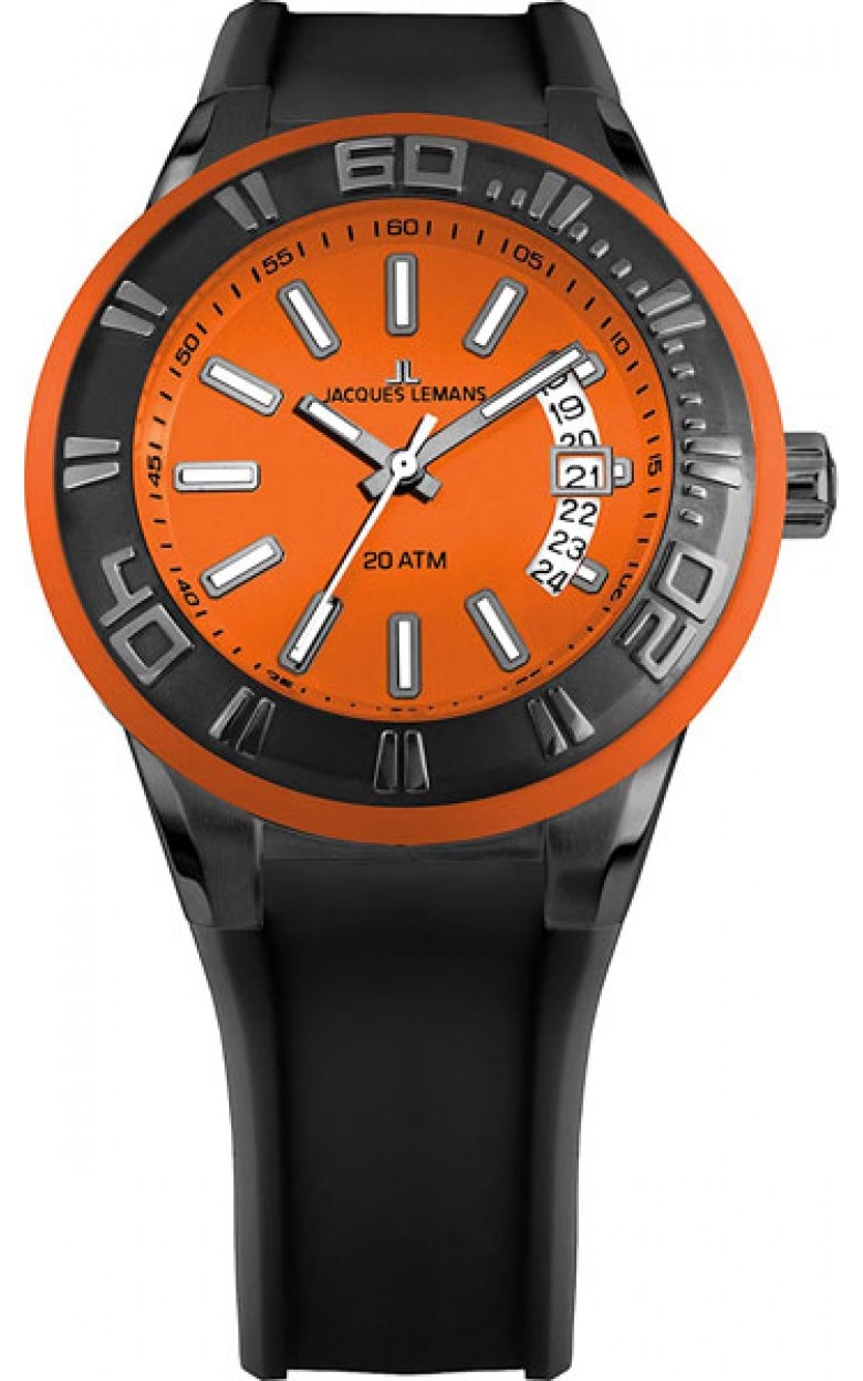 1-1784M  водонепроницаемые мужские кварцевые наручные часы Jacques Lemans  1-1784M