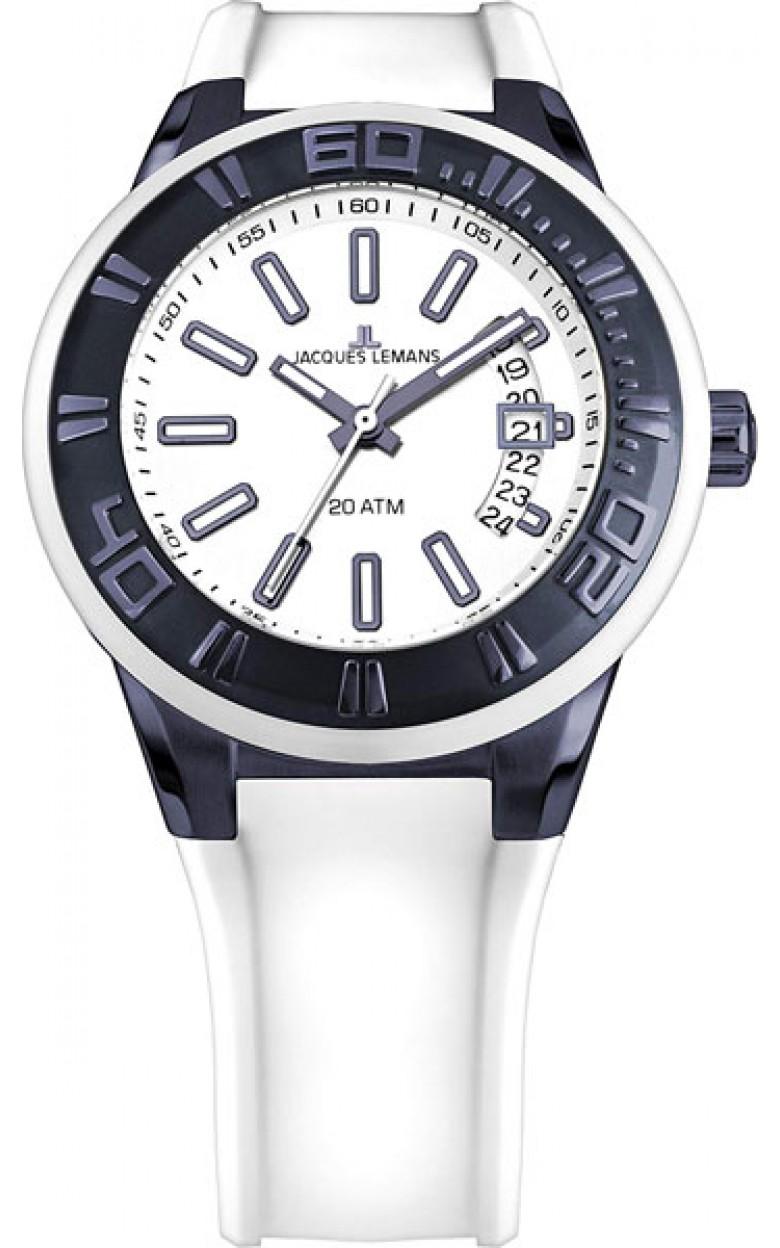1-1784R  водонепроницаемые кварцевые наручные часы Jacques Lemans для мужчин  1-1784R