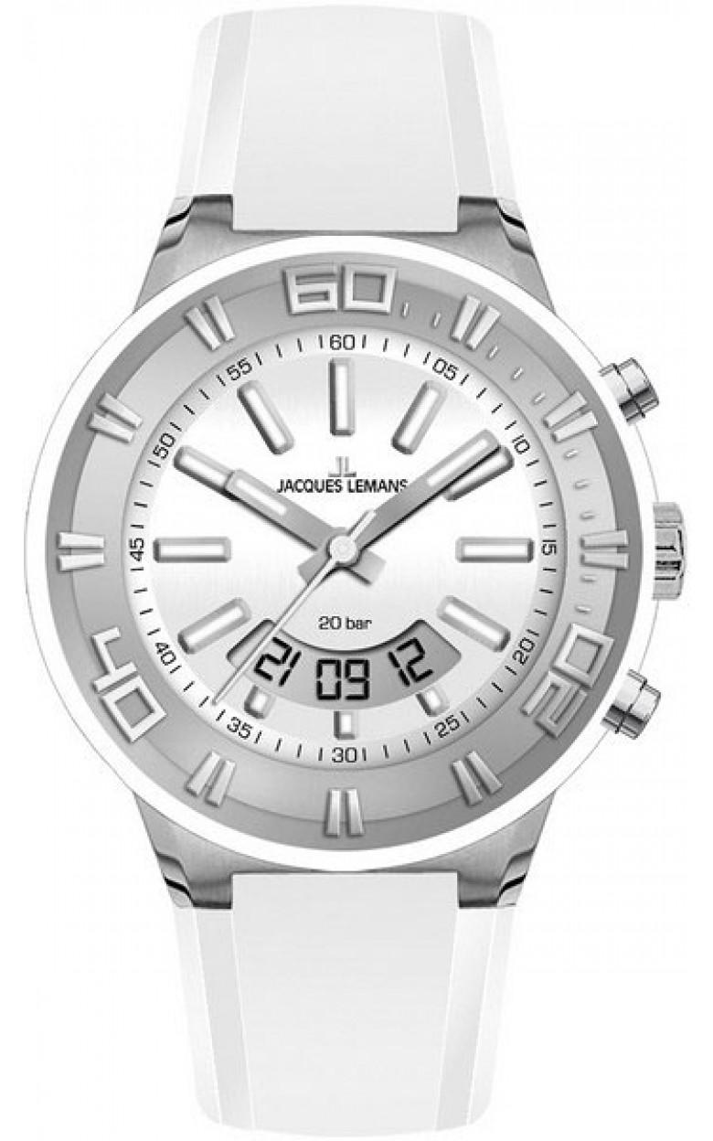 1-1786B  водонепроницаемые мужские кварцевые часы Jacques Lemans  1-1786B