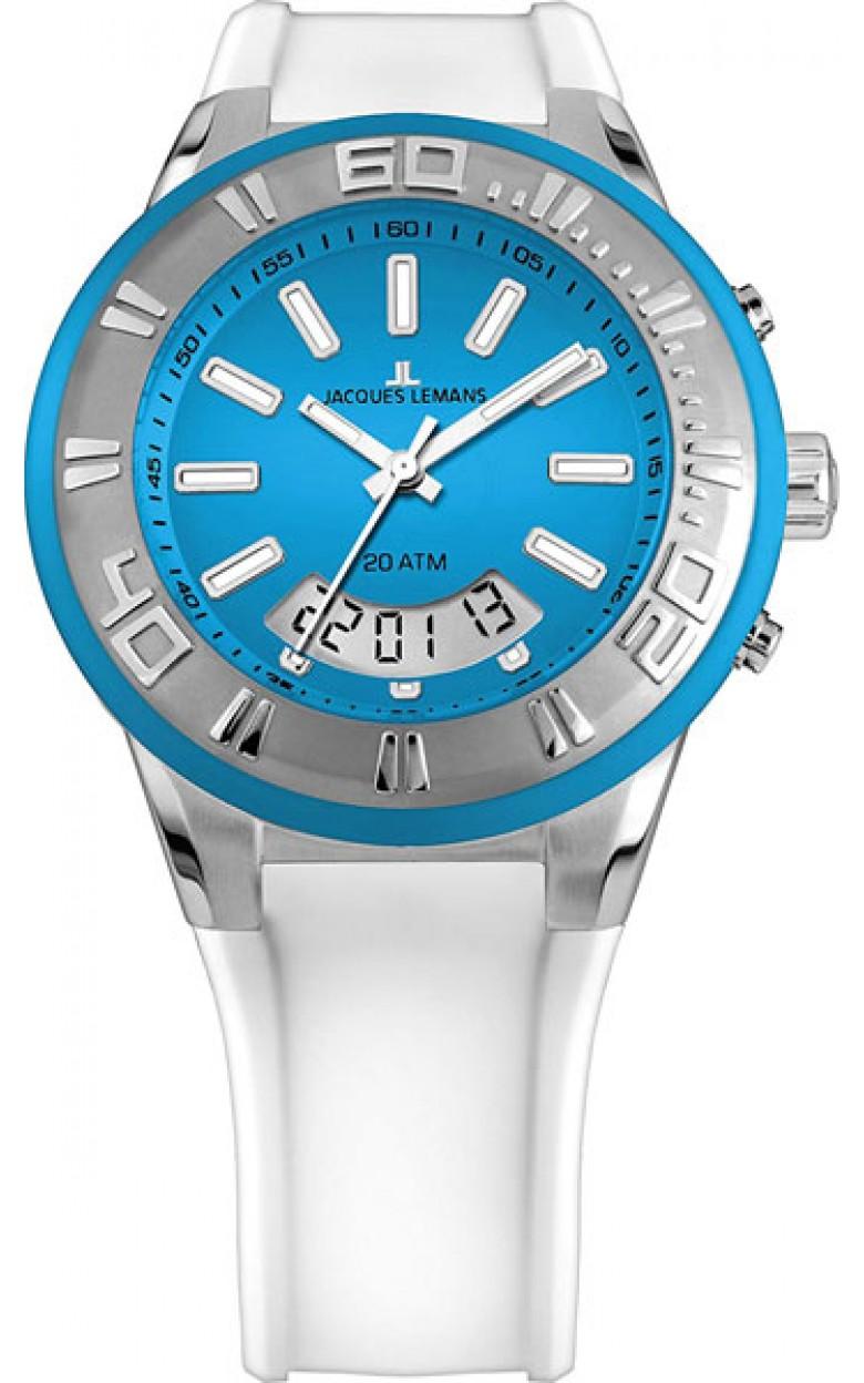 1-1786F  водонепроницаемые мужские кварцевые наручные часы Jacques Lemans  1-1786F