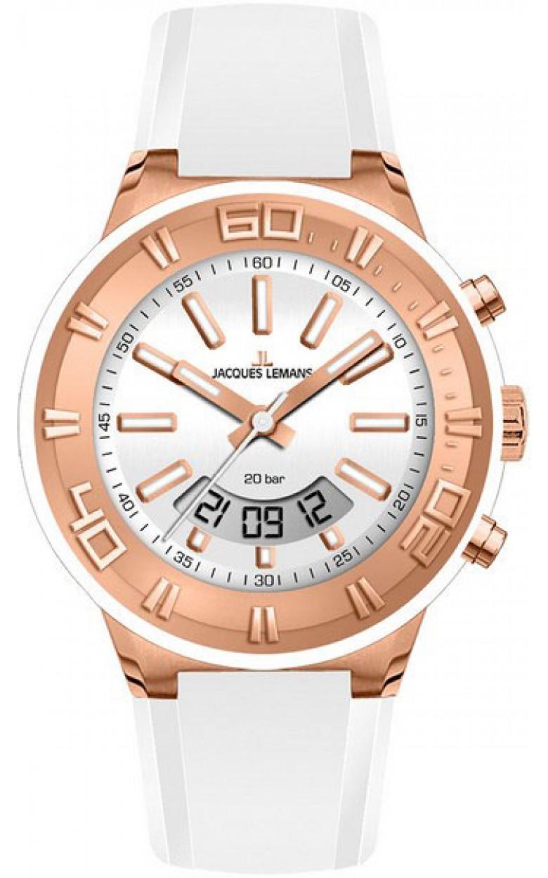 1-1786H  водонепроницаемые кварцевые наручные часы Jacques Lemans для мужчин  1-1786H