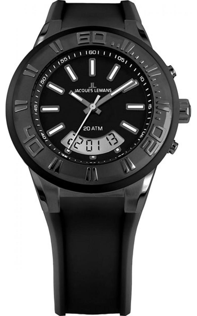 1-1786i  водонепроницаемые кварцевые наручные часы Jacques Lemans для мужчин  1-1786i