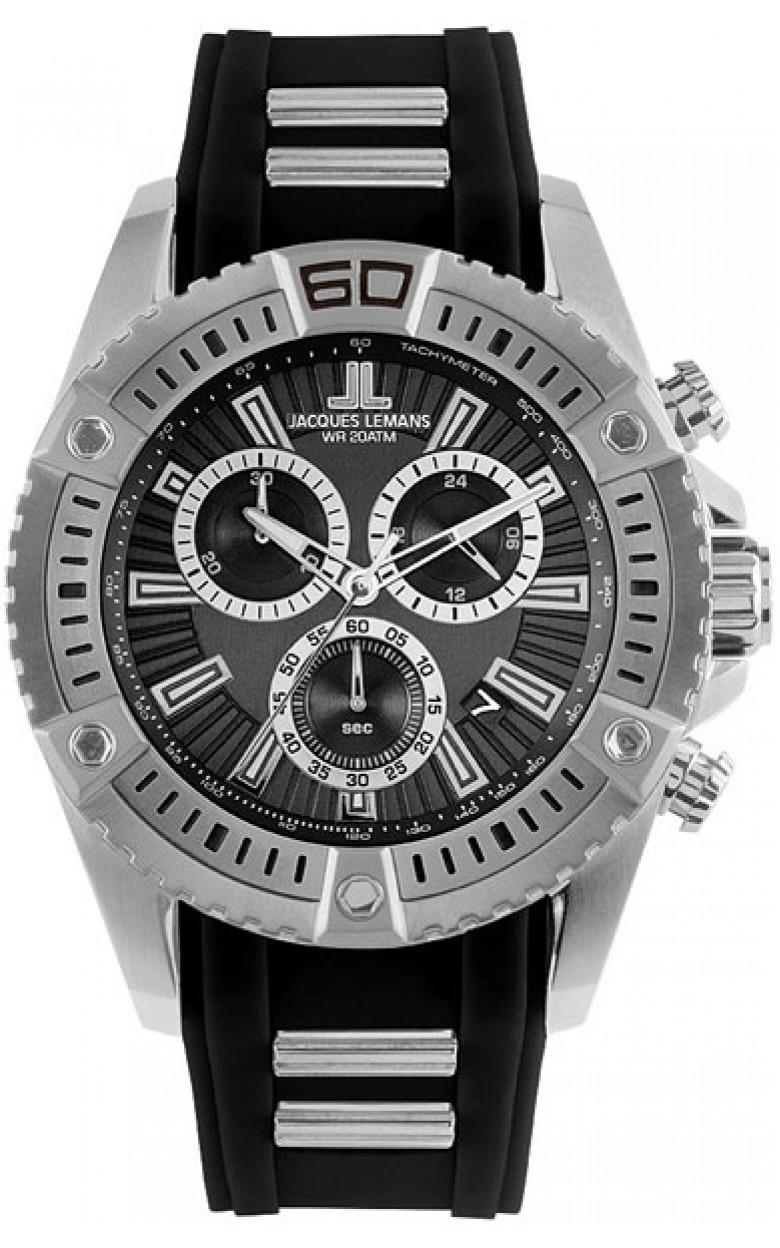 1-1805A  водонепроницаемые мужские кварцевые часы Jacques Lemans  1-1805A