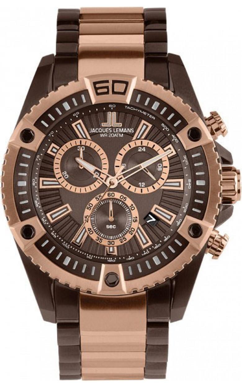 1-1805L  водонепроницаемые мужские кварцевые часы Jacques Lemans  1-1805L
