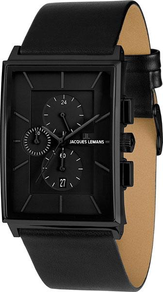 1-1818D  мужские кварцевые часы Jacques Lemans с сапфировым стеклом 1-1818D