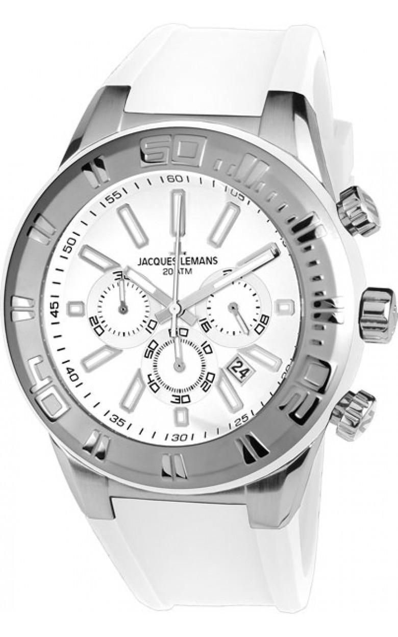 1-1820C  водонепроницаемые мужские кварцевые часы Jacques Lemans  1-1820C