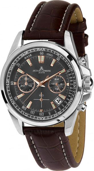 1-1830C  водонепроницаемые кварцевые наручные часы Jacques Lemans для мужчин  1-1830C