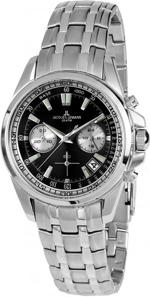 1-1830D  водонепроницаемые кварцевые наручные часы Jacques Lemans для мужчин  1-1830D