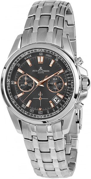 1-1830F  водонепроницаемые кварцевые наручные часы Jacques Lemans для мужчин  1-1830F