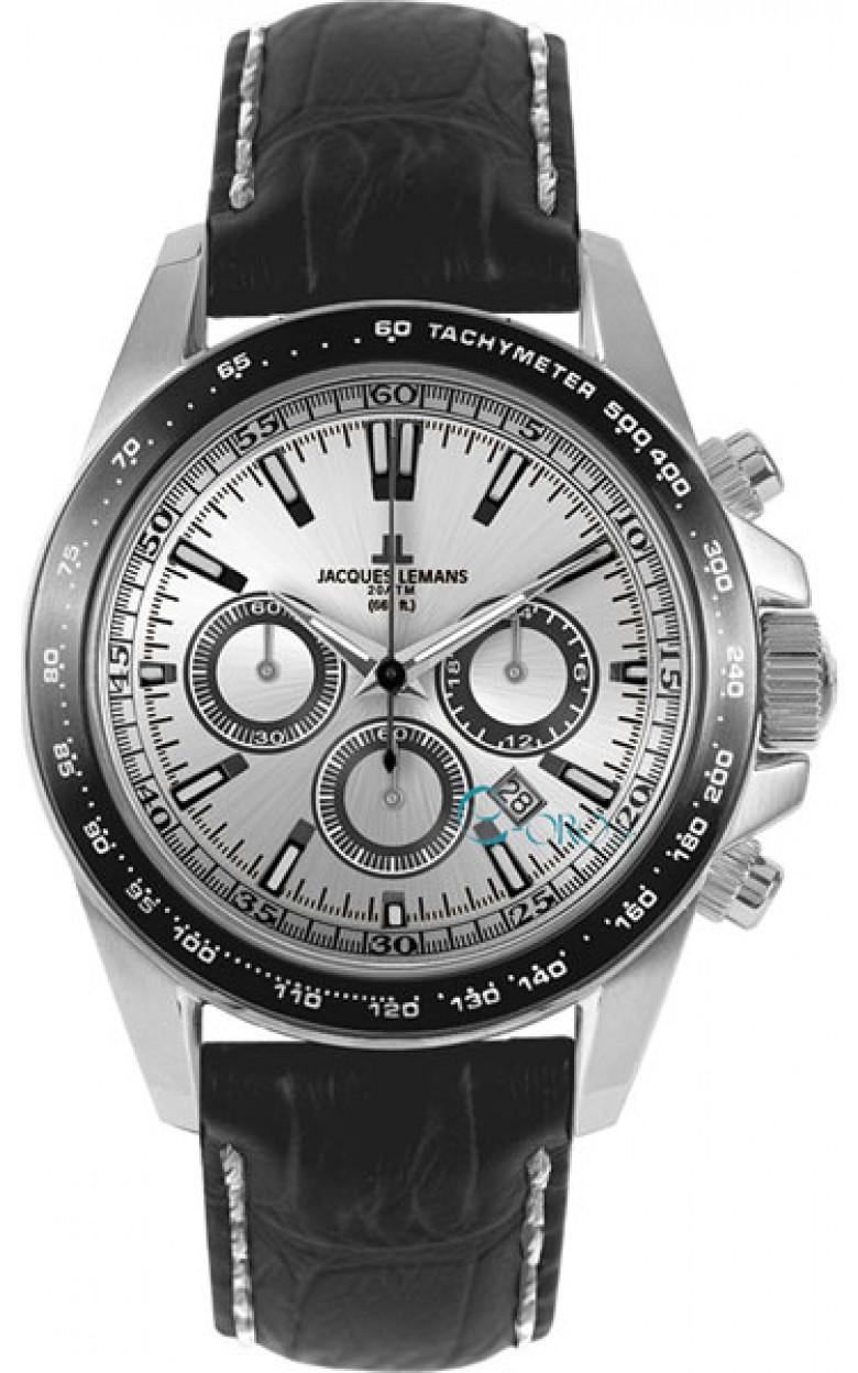 1-1836A  водонепроницаемые мужские кварцевые часы Jacques Lemans  1-1836A