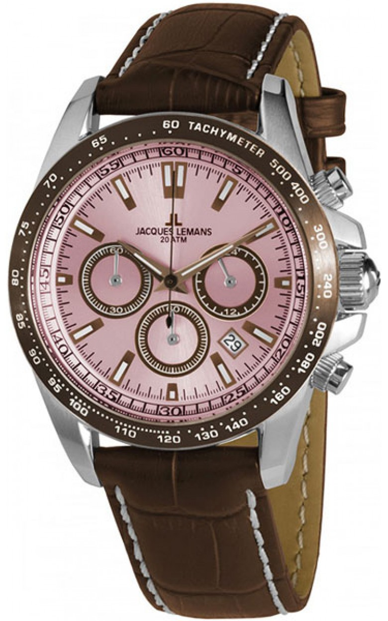 1-1836D  водонепроницаемые кварцевые наручные часы Jacques Lemans для мужчин  1-1836D