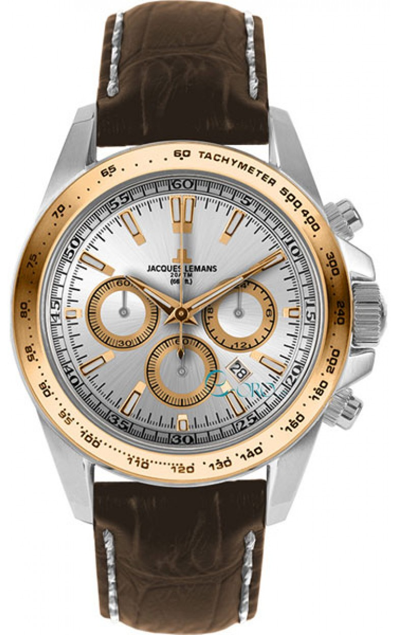 1-1836E  водонепроницаемые мужские кварцевые часы Jacques Lemans  1-1836E