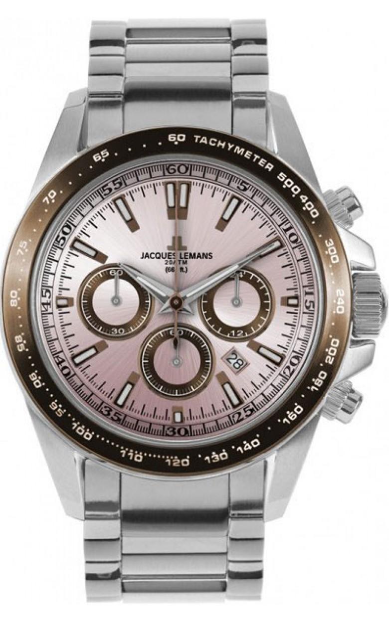 1-1836i  водонепроницаемые мужские кварцевые наручные часы Jacques Lemans  1-1836i