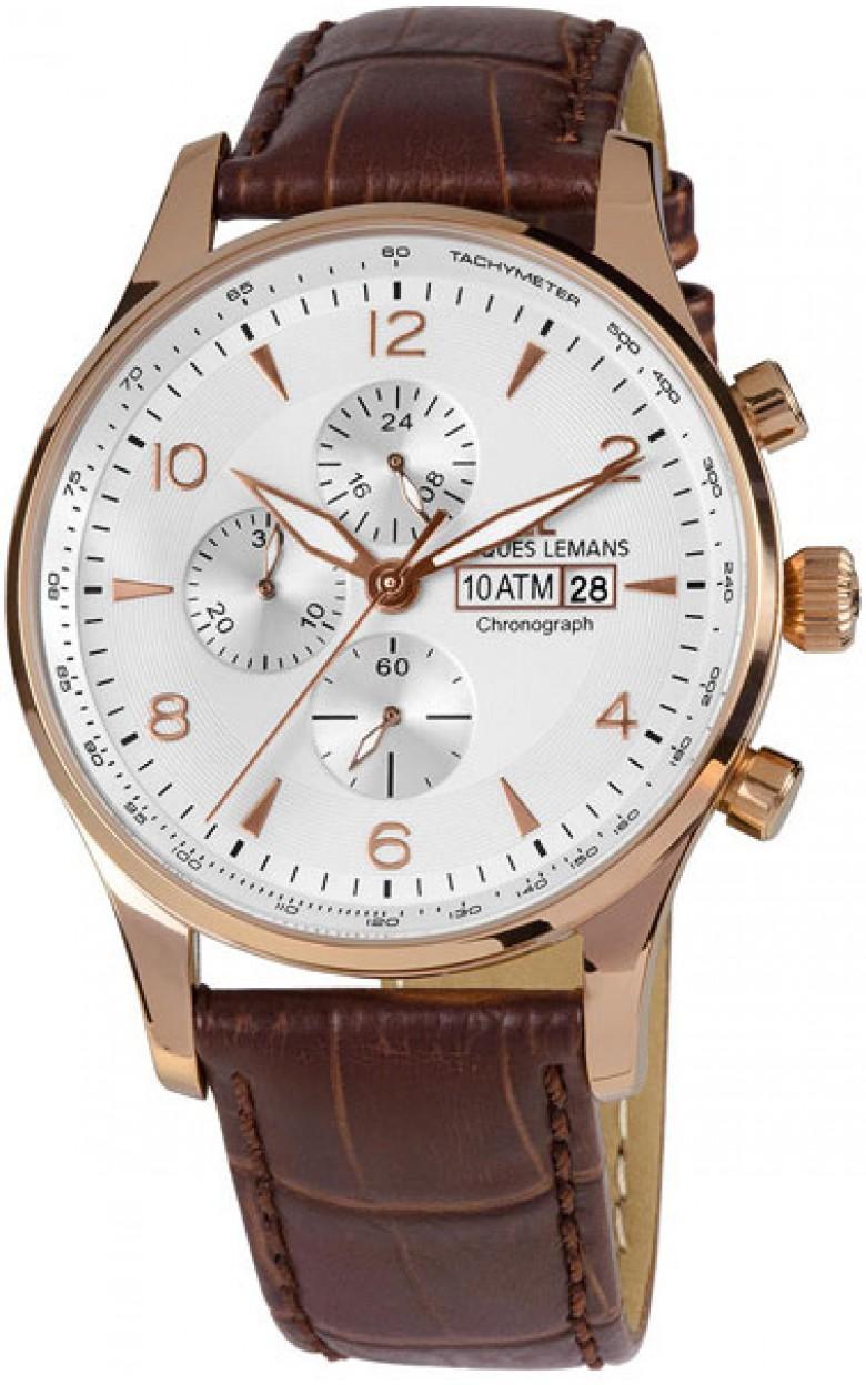 1-1844F  кварцевые наручные часы Jacques Lemans для мужчин  1-1844F
