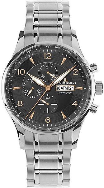 1-1844K  кварцевые наручные часы Jacques Lemans  1-1844K